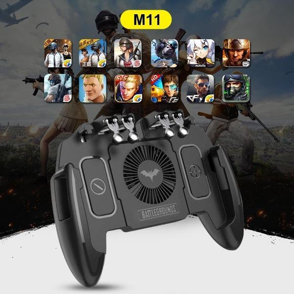 Six Finger All-in-One Mobile Game Controller With Cooling Fan(IOS/Android Compatible)