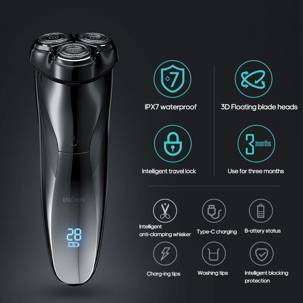 Xiaomi ENCHEN 3D Men Electric Shaver IPX7 Waterproof Wet & Dry Dual Use
