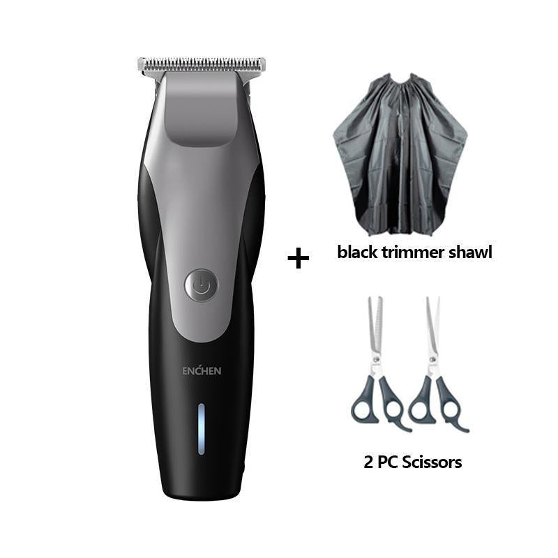 Xiaomi ENCHEN Electric Hair Clipper USB Charging Low Noise Trimmer with 3 Hair Comb