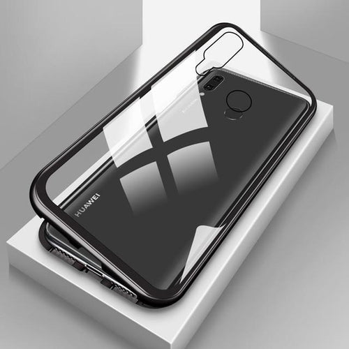 Luxury Magnetic Adsorption Metal Case For Huawei Y9
