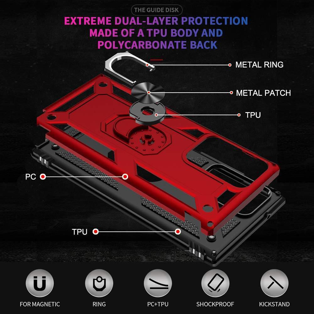 Luxury Armor Ring Bracket Phone Case For Samsung Note 20 Ultra 5G-Fast Delivery