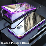 Magnetic Adsorption Transparent Tempered Phone Case For Samsung S9 / S9 PLUS / Note9