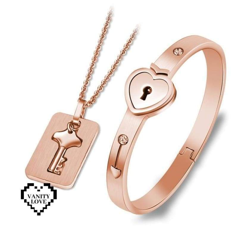 Vanity Love Lock Set - Rose Gold