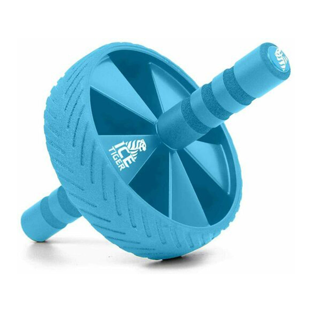 Ice Tiger Ab Roller Wheel - Exercise Equipment - Workout Wheel - Blue