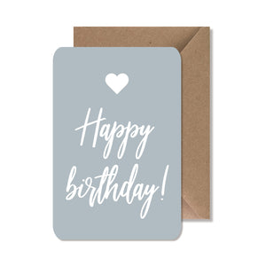 "CARTE DE VOEUX ""HAPPY BIRTHDAY"" BLEU"