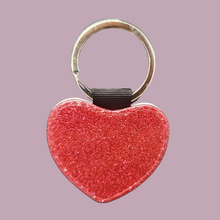 Load image into Gallery viewer, PU Heart Keyring