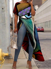 Holiday Abstract & Asymmetrical Multicolor Shirts