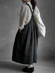Fashion casual suspender wide-leg pants