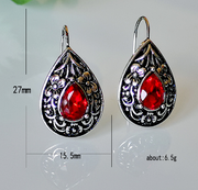 Water drop pear shaped vintage earrings