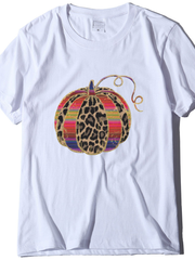 Plus size Leopard Printed Casual Shirts & Tops