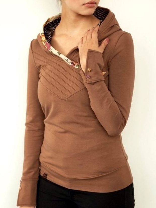 Long Sleeve Cotton-Blend Sweatshirt