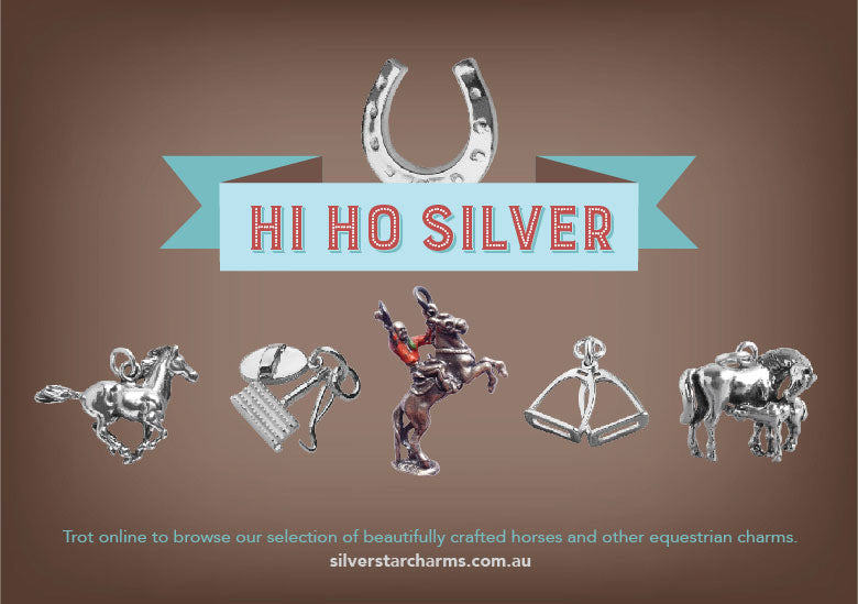 Sterling silver horse and equestrian charms