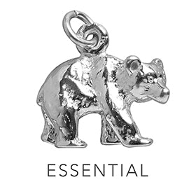 Bear Essential Charming Idiom Sterling Silver Charm Pendant