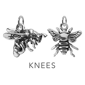 Bees Knees Charming Idiom Sterling Silver Charm Pendant