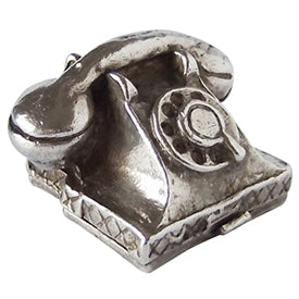 Vintage English Silver Telephone Charm
