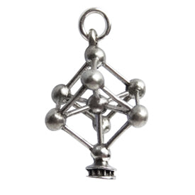 Vintage Silver Atomium Brussels Charm