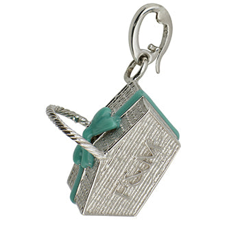 Sterling silver picnic hamper charm by Fortnum & Mason