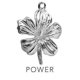 Flower Power Charming Idiom Sterling Silver Charm Pendant