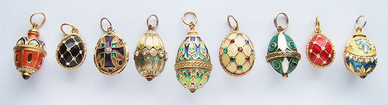 Faberge style Easter egg charms