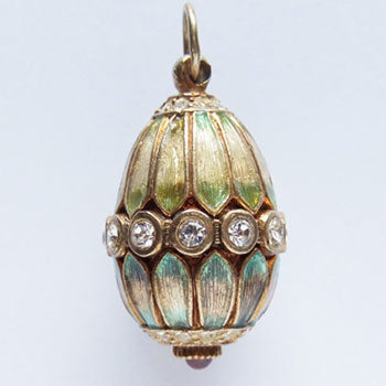 Faberge style Easter egg charm