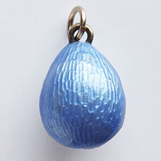Antique Edwardian Guilloche Enamel Easter egg Charm