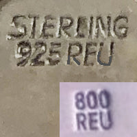 REU Sterling 800 Charm Makers Mark