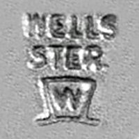 Wells Inc Top Hat Sterling Charms Makers Mark