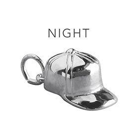 Night Cap Charming Idiom Sterling Silver Charm Pendant