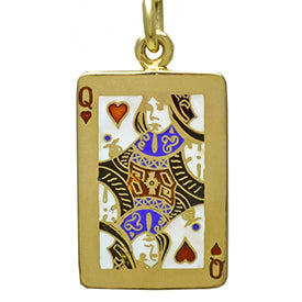 Tiffany and Co queen of hearts enamel and gold charm