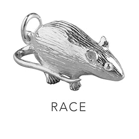 Rat Race Charming Idiom Sterling Silver Charm Pendant