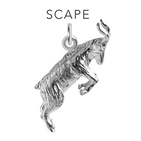 Scape Goat Charming Idiom Sterling Silver Charm Pendant