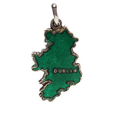 Thomas L Mott TLM Enamel Ireland Map Charm