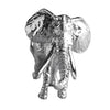 African Elephant Charm Sterling Silver Front