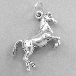 Appaloosa Horse Pendant in Sterling Silver