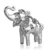 Asian Elephant Charm Sterling Silver Front