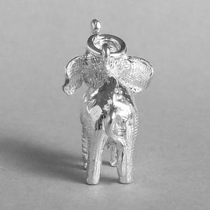 Asian Elephant Charm Sterling Silver Rear