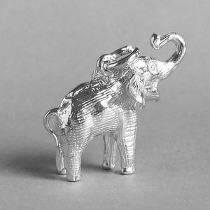 Asian Elephant Charm Sterling Silver Side