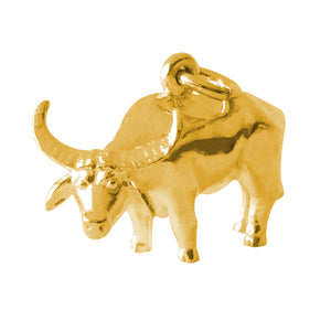 Gold Water Buffalo Charm