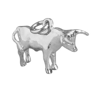 Bull Charm Sterling Silver or Gold
