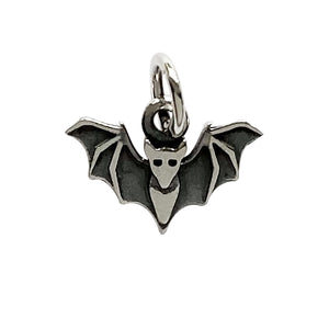 Sterling silver flying bat charm