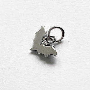Flying bat charm sterling silver
