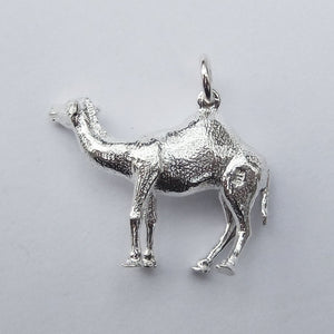 Australian camel charm sterling silver or gold pendant