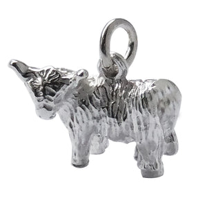 Scottish Highland Cow Charm Sterling Silver
