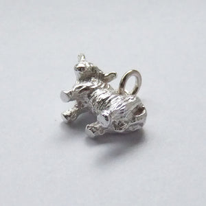 Highland Cow Charm Sterling Silver Scotland Cattle
