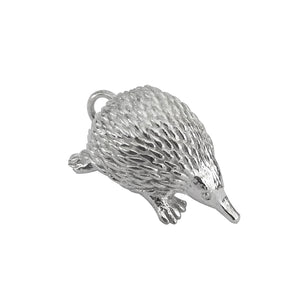 Echidna charm sterling silver or gold pendant