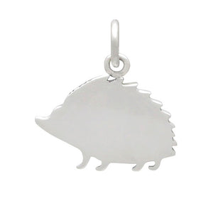 Hedgehog Charm Sterling Silver 925 Reverse