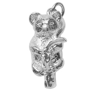 Koala charm sterling silver or gold pendant