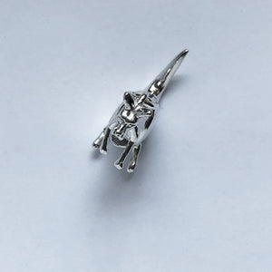 Kangaroo Charm with Moving Joey Sterling Silver or Gold | Charmarama