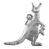 Kangaroo and joey charm sterling silver or gold pendant