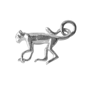 Sterling silver monkey charm animal pendant